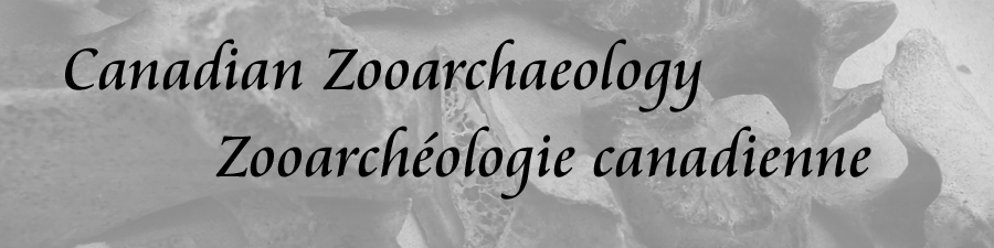 Canadian Zooarchaeology / Zooarchéologie canadienne