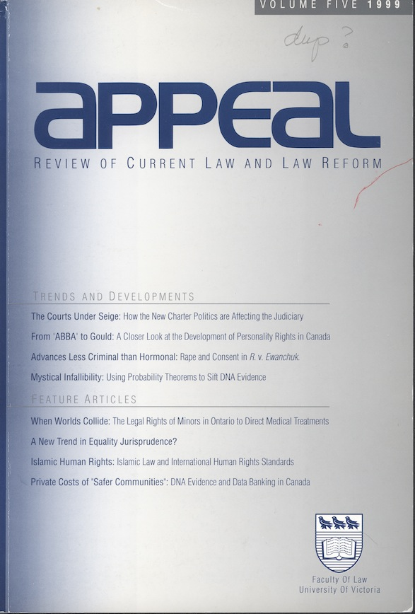 Appeal: Review of Current Law and Law Reform
