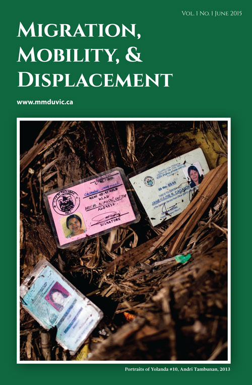Migration, Mobility, & Displacement: Vol. 1, Issue 1, June 2015